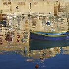 Blue Dinghy Malta by Barry Culling