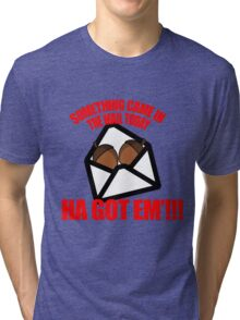 Deez nuts cartoon  Tri-blend T-Shirt