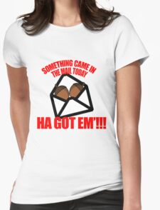 Deez nuts cartoon  Womens Fitted T-Shirt