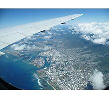 Flying into Honolulu, Hawaii  Photographic Print