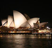 Sydney Opera House By Night  by Amanda  Stewart