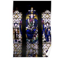 Stained glass window - Ely Cathedral Poster