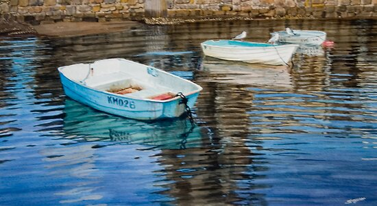 Three dinghies by Freda Surgenor