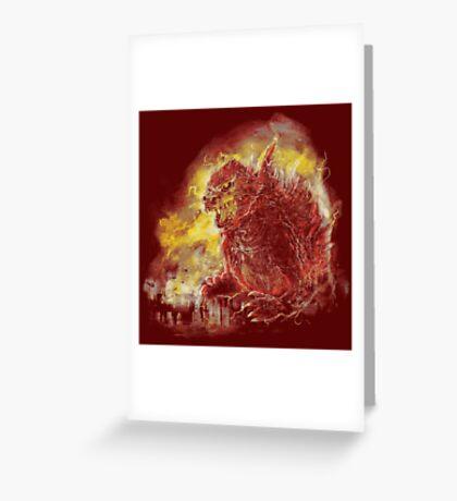 godzillava Greeting Card