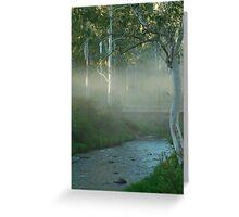 Dusty Trail,Sheepyard Flat, Victorian High Country Greeting Card
