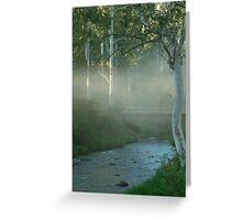 Dusty Trail,Sheepyard Flat, Victorian High Country Greeting Card