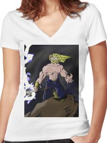 Fury of the Storm Women's Fitted V-Neck T-Shirt
