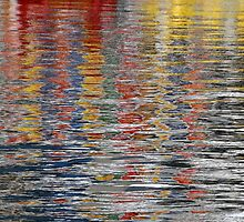 multicolour reflections in water by Barry Culling