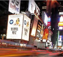 All Lit up - Time Square, New York City by Alyssa Passlow