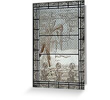 Pere Lachaise stained glass Greeting Card