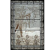 Pere Lachaise stained glass Photographic Print
