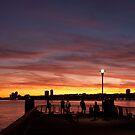 Hudson River Sunset by Dave Bledsoe