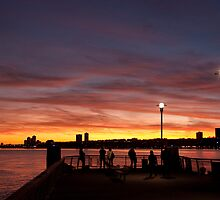 Hudson River Sunset by Dave Bledsoe