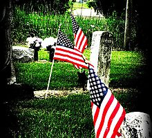Memorial- vibrant flags in vignette by AmandaFerryman