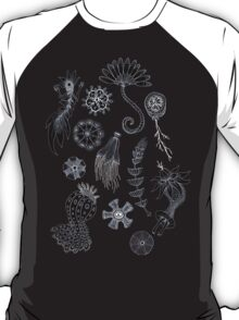 Sea Ballet in Black and White with Apologies to Ernst Haeckel T-Shirt