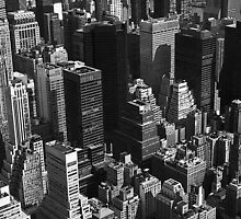 New York from Empire State Building by Brooke Findlay