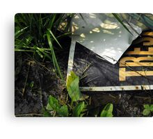 """No Trespassing"" Canvas Print"