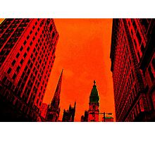 Phillyscape in Red Photographic Print