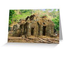 The Khmer Sanctuary at Vat Phou - Champassack, Laos Greeting Card