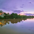 Champassack Palace at Sunset - Pakse, Laos by AsiaArchaeology