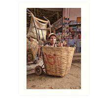 Basketcase - Talat Dao Heung (Dao Heung Market), Pakse, Laos Art Print