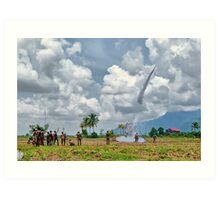 Bun Bang Fai (the rocket festival) - Ban Pappin Village, Champassack, Laos Art Print