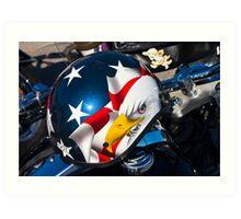 Biker's Helmet Art Print