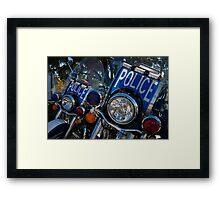 Police Bikes Framed Print
