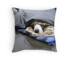 Dumper (street seller's dog) Throw Pillow