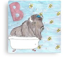 B is for Bison Canvas Print