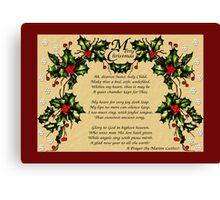 A Christmas Prayer Canvas Print