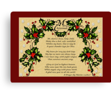 A Christmas Prayer Canvas Print
