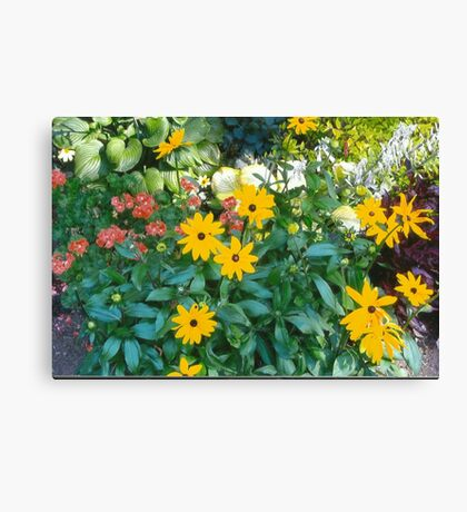 Flowers In The Park Canvas Print