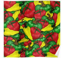 Tomatoes and Peppers Poster