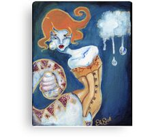 Little Tears - Corset Wearing Snake Girl Canvas Print