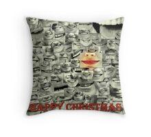 happy happy christmas Throw Pillow