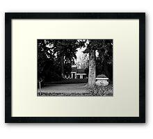 A Dwarfed Cottage  Framed Print