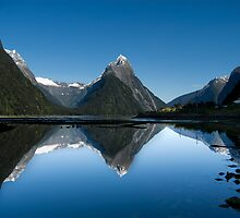 Mitre Peak, Milford Sound, New Zealand by Anthony and Kelly Rae