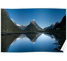 Mitre Peak, Milford Sound, New Zealand Poster
