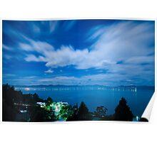 Moonlit River Derwent - Tasmania, Australia Poster