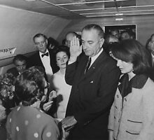 LBJ Taking The Oath On Air Force One by warishellstore