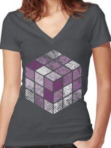 RubixGirl Women's Fitted V-Neck T-Shirt