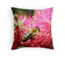 BeeLoaded! Throw Pillow