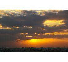 Sunrise in Bahrain Photographic Print