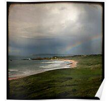 Rainbow over Whitepark Bay Poster