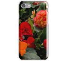 Begonia garden iPhone Case/Skin