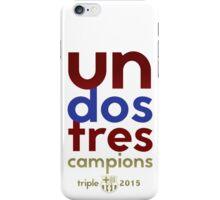 Barcelona: Treble Winners Shirt iPhone Case/Skin