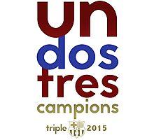 Barcelona: Treble Winners Shirt Photographic Print