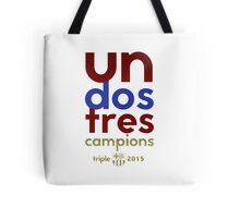 Barcelona: Treble Winners Shirt Tote Bag