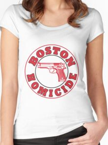 Rizzles Boston Homicide Logo Women's Fitted Scoop T-Shirt